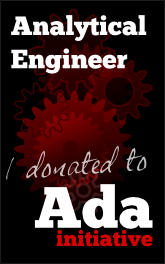 Analytical Engineer: I donated to the Ada Initiative