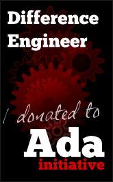 Difference Engineer: I donated to the Ada Initiative